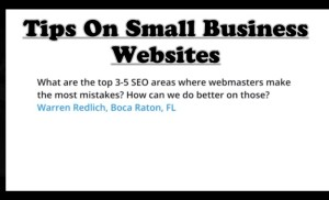 Tips On Small Business Websites